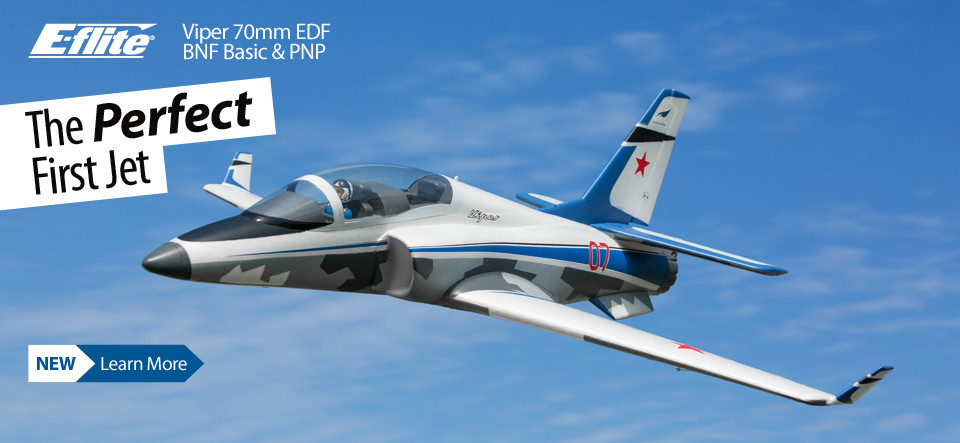 New! E-flite Viper 70mm EDF Sport Jet with AS3X and SAFE Select Technologies