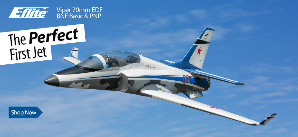 E-flite Viper 70mm EDF Sport Jet with AS3X and SAFE Select Technologies