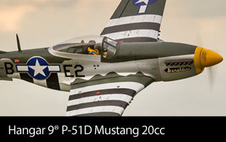 Hangar 9 P-51D Mustang 20cc ARF Warbird 69.5-inch