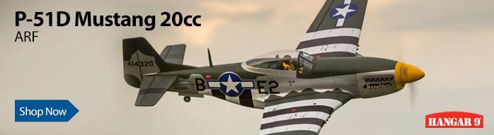 Hangar 9 P-51D Mustang 20cc ARF Scale Warbird RC Airplane