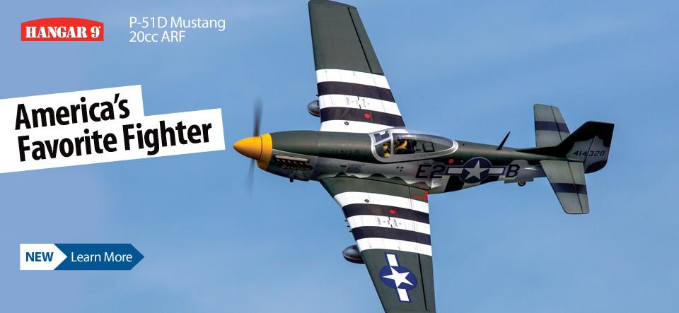 New! Hangar 9 P-51D Mustang 20cc ARF Warbird