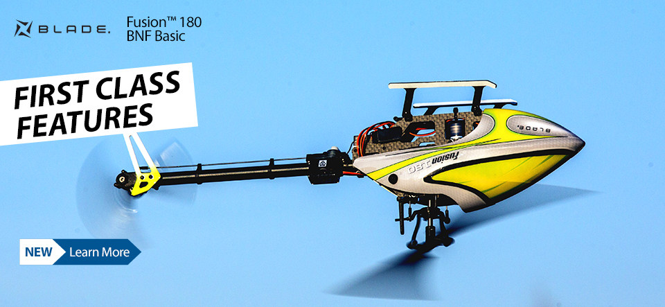 Blade Fusion 180 BNF Basic 3D Collective Pitch Helicopter