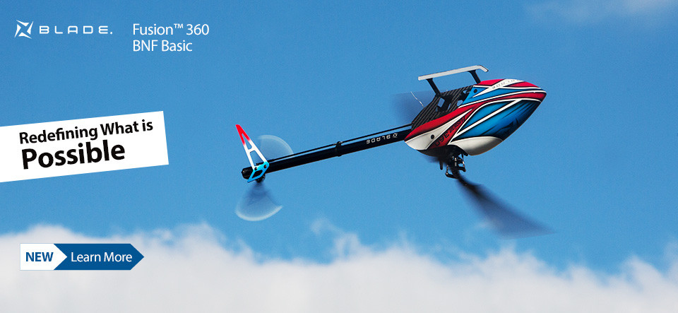 Blade Fusion 360 BNF Basic 3D Aerobatic Flybarless Helicopter
