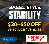 Save up to $50 on select AVC Vehicles with coupon code AVC18 though August 31, 2018