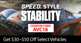 Save up to $50 on select AVC vehicles with coupon code AVC18 through August 31, 2018