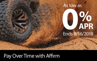 Easy Monthly Payments with Affirm - Rates as low as 0% APR through August 16, 2018