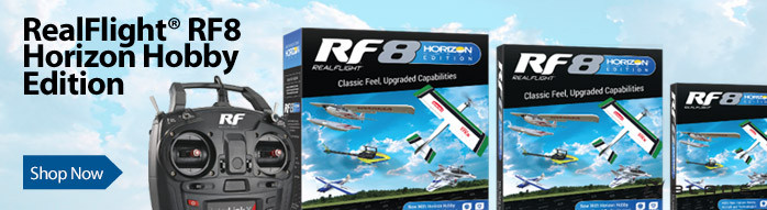 RealFlight RF8 Horizon Hobby Edition RC VR-Compatible Flight Simulator for Airplanes, Jets, Sailplanes, Helicopters and Drones