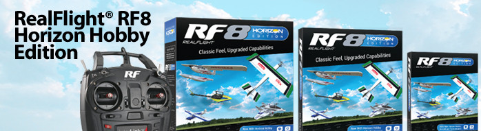 RealFlight RF8 Horizon Hobby Edition RC Flight Simulator Software