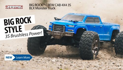 ARRMA BIG ROCK CREW CAB 4X4 3S BLX Monster Truck RTR ARA102711