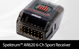 Spektrum AR620 6-channel Antenna-less DSMX Sport Receiver