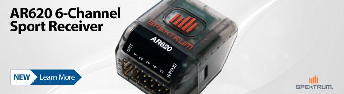 New! Spektrum AR620 6-channel DSMX Sport Receiver