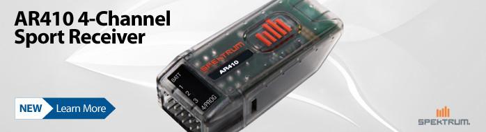 New! Spektrum AR410 4-channel DSMX Sport Receiver