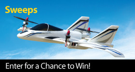 Enter for a chance to win an E-flite Mini Convergence VTOL Airplane