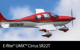 E-flite UMX Cirrus SR22T Ultra Micro Scale Civilian RC Airplane