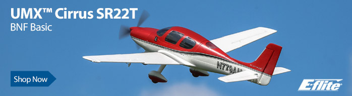 E-flite UMX Cirrus SR22T BNF Basic Ultra Micro Scale Civilian RC Airplane