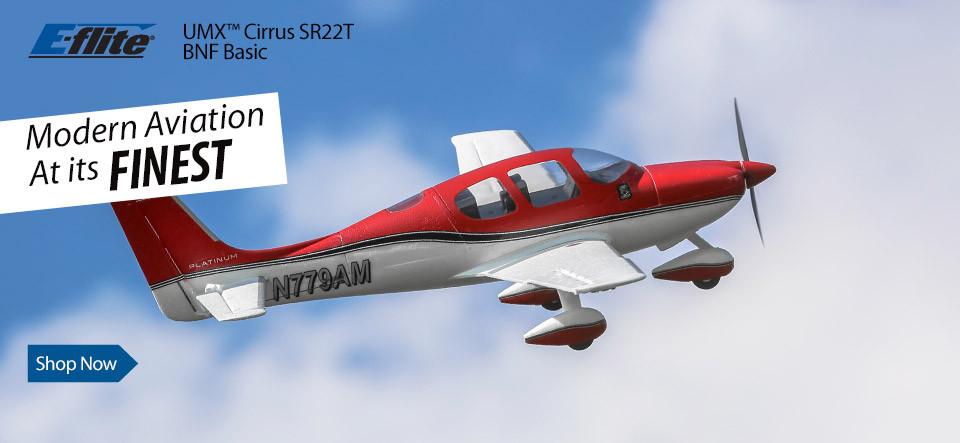 E-flite UMX Cirrus SR22T BNF Basic Ultra Micro Scale Civilian RC Airplane