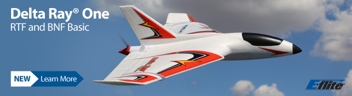 New! E-flite Delta Ray One Beginner Flying Wing RC Airplane with SAFE Technology