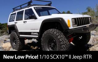 New Low Price Axial 1/10 SCX10 II Jeep Cherokee Rock Crawler 4WD Kit AXIC9046