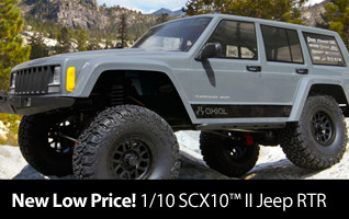 New Low Price Axial 1/10 SCX10 II Jeep Cherokee Brushed Rock Crawler 4WD RTR AXID9047