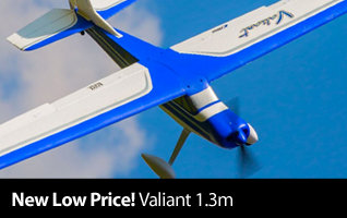 New Low Price on the E-flite Valiant 1.3m BNF Basic Sport Parkflyer Airplane