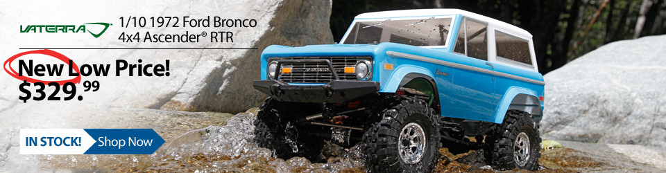 New Outlet Price! Vaterra 1/10 1972 Ford Bronco 4x4 Ascender RTR