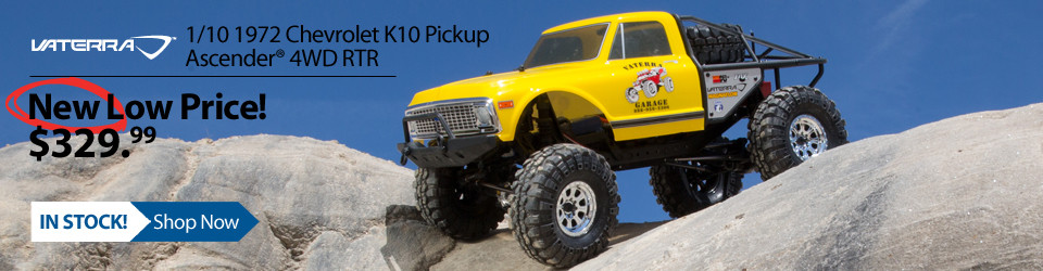 New Outlet Price! Vaterra 1/10 1972 Chevrolet K10 Pickup Ascender RTR
