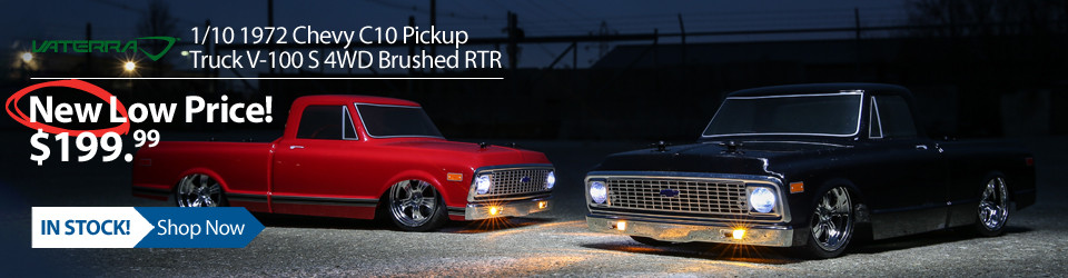 New Outlet Price! Vaterra 1/10 1972 Chevy C10 Pickup V-100 S RTR