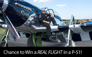 RealFlight RF8 Horizon Hobby Edition - Purchase RF8 for a chance to win a one of four prizes including a real flight on the Quick Silver P-51