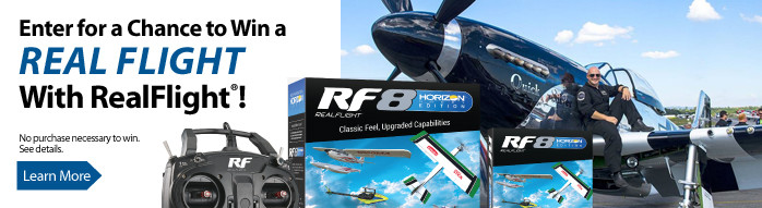 Purchase RealFlight RF8 Horizon Hobby Edition for a chance to win one of four prizes!
