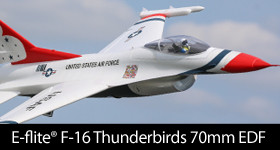 E-flite F-16 Thunderbirds 70mm EDF BNF Basic with AS3X and SAFE Select RC Airplane