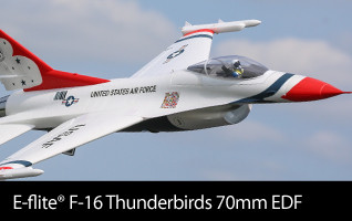 E-flite F-16 Thunderbirds 70mm EDF BNF Basic and PNP