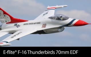 E-flite F-16 Thunderbirds 70mm EDF BNF Basic and PNP