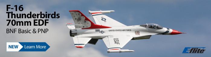 New! E-flite F-16 Thunderbirds 70mm EDF Warbird Jet