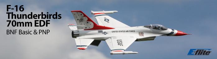 E-flite F-16 Thunderbirds 70mm EDF Warbird Jet