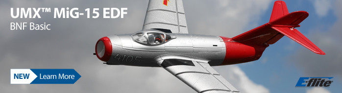 E-flite UMX MiG-15 28mm EDF Jet BNF Basic Ultra Micro WWII Scale Warbird with AS3X and SAFE Select Technology
