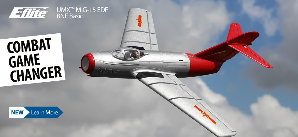 New! E-flite UMX MiG-15 28mm EDF Jet BNF Basic Ultra Micro WWII Scale Warbird with AS3X and SAFE Select Technology