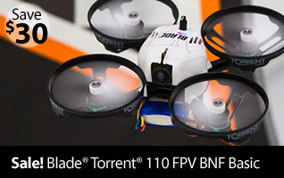 Blade Torrent 110 FPV BNF Basic Micro Racing RC Quadcopter Drone
