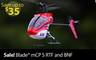 Blade mCP S Ultra Micro Aerobatic Indoor RC Helicopter with SAFE Technology