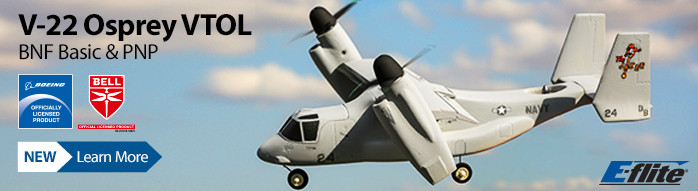 New! E-flite V-22 Osprey VTOL BNF Basic and PNP Scale Warbird Officially Licensed RC Aircraft