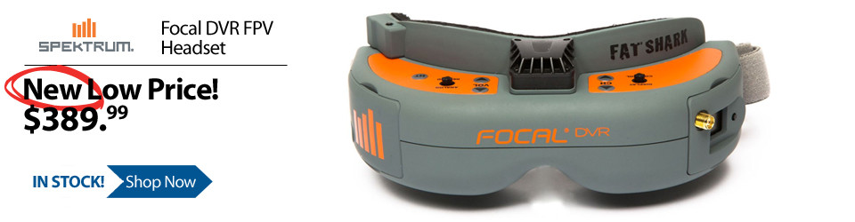 New Outlet Price! Spektrum Focal DVR FPV Headset