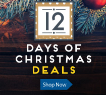 12 Days of Christmas Sale - Check back daily as we unwrap a new deal each day through December 14, 2018