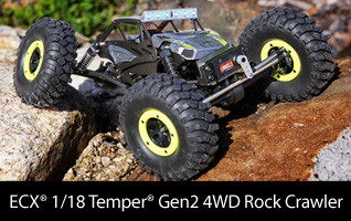 1/18 Temper 4WD Gen 2 Brushed RTR