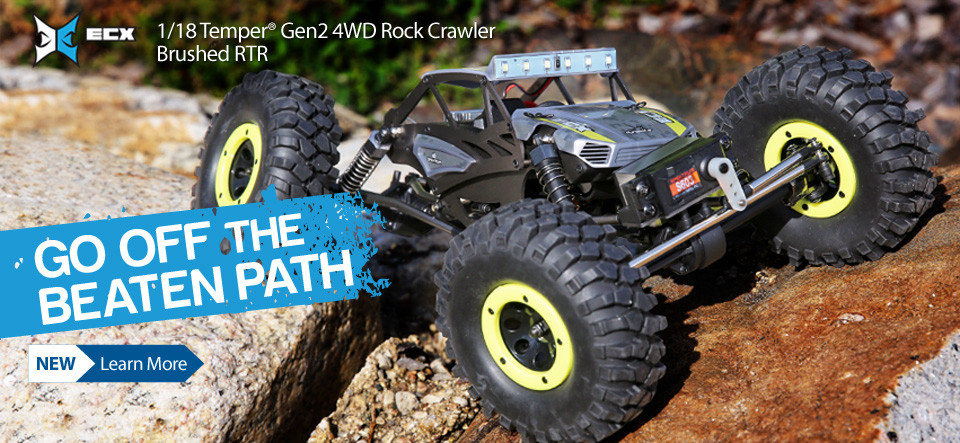 ECX 1/18 Temper Gen2 4WD Rock Crawler Brushed RTR