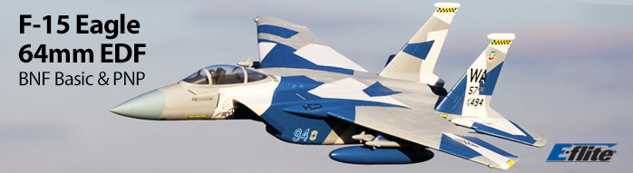 E-flite F-15 Eagle 64mm EDF Scale RC Jet