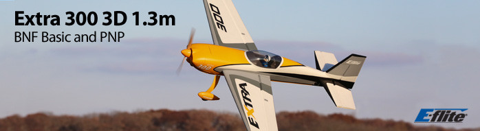 E-flite Extra 300 3D 1.3m Scale Aerobatic Airplane BNF Basic with AS3X and SAFE Select Technology and PNP