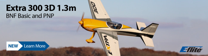 New! E-flite Extra 300 3D 1.3m Aerobatic Scale Airplane BNF Basic with SAFE Select and PNP
