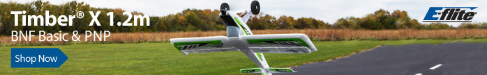 E-flite Timber X 1.2m 3D Aerobatic STOL Sport RC Airplane