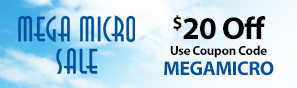 Mega Micro Sale - Save up to $20 on select E-flite UMX Airplanes with code MEGAMICRO through February 28, 2019 - Click to see more Mega Micro deals