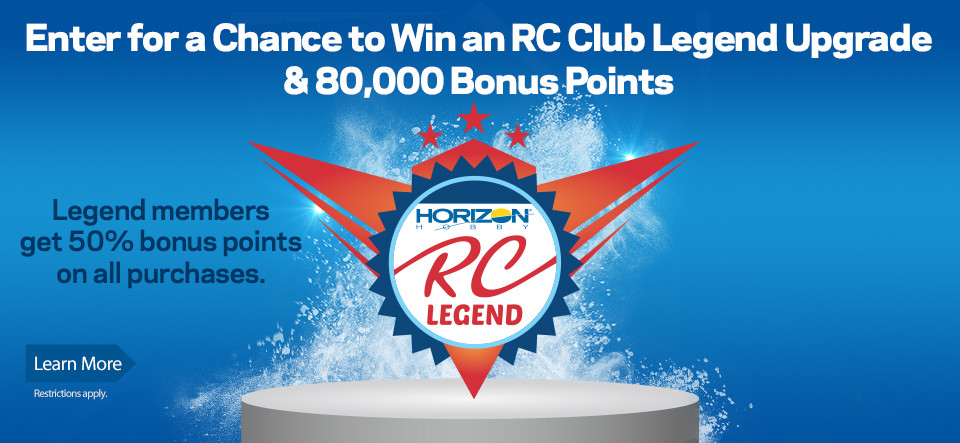 Horizon Hobby RC Club Legend Upgrade Sweepstakes
