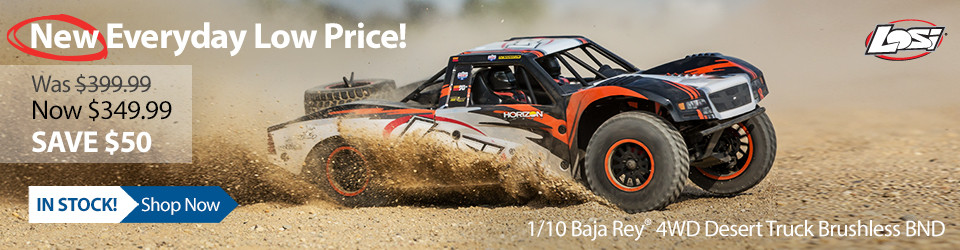 New Outlet Price! Losi 1/10 Baja Rey 4WD Desert Truck Brushless BND